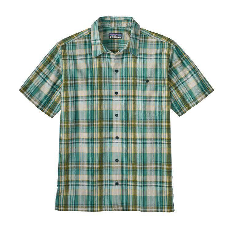 M's Puckerware Shirt Free Rider: Beryl Green L