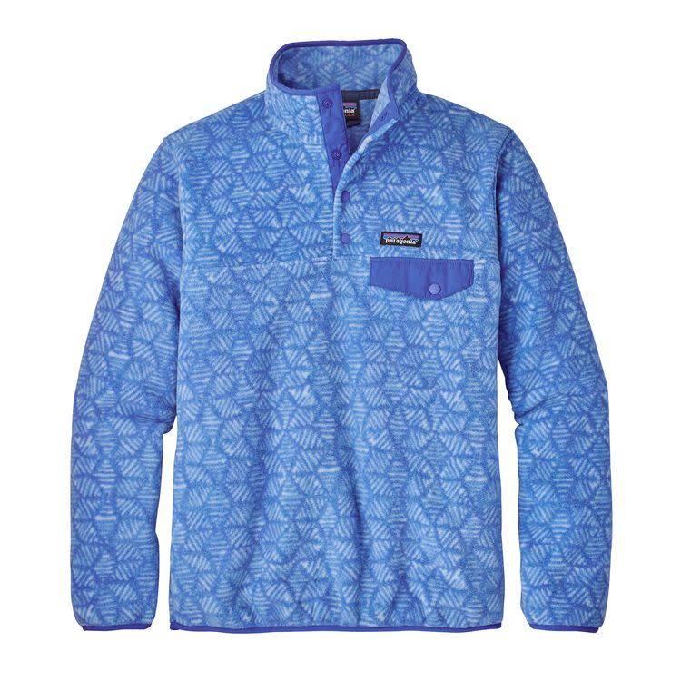 Patagonia W's LW Synch Snap-T P/O Batik Hex Big: Imperial Blue L