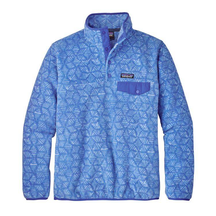 W's LW Synch Snap-T P/O Batik Hex Big: Imperial Blue L