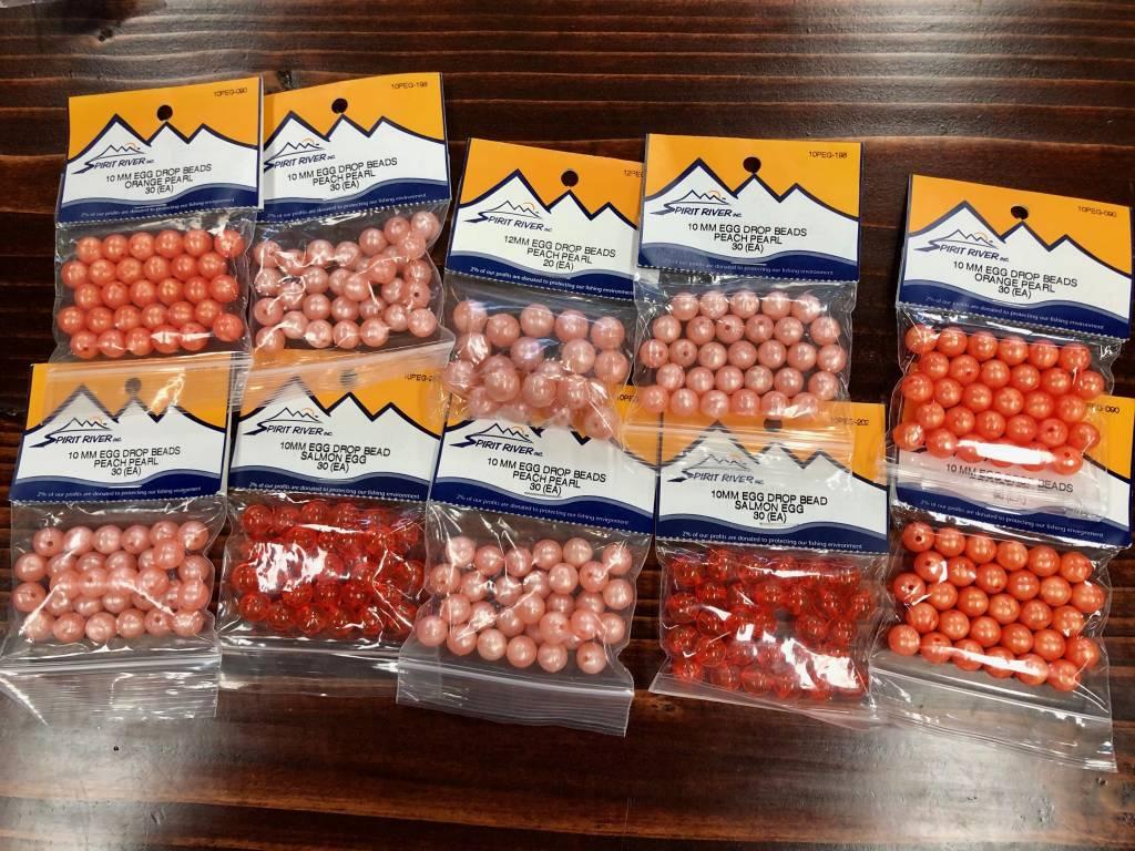 Spirit River Egg Drop Beads, 10 Pack