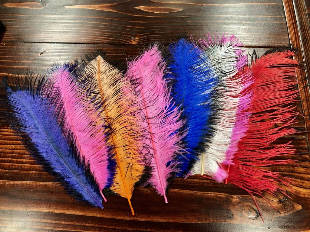 Spirit River Spirit River Tip Dyed Ostrich Assortment - 7 colors!