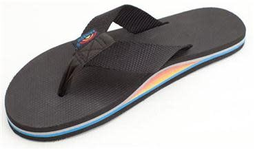 Rainbow Sandals Rainbow Sandals W's The Classics - Single Layer Classic Rubber with a Nylon Strap,