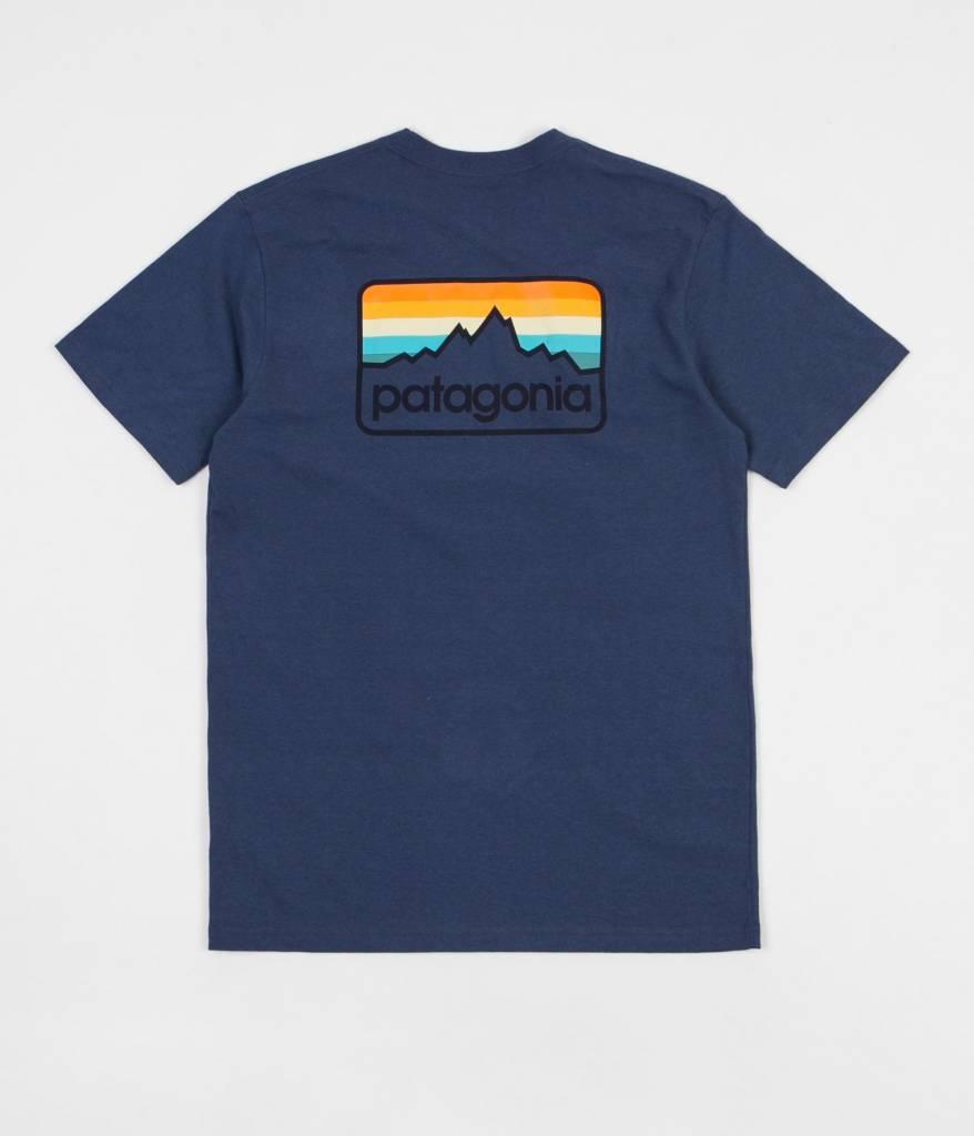 M's Line Logo Badge Responsibili-Tee Dolomite Blue L