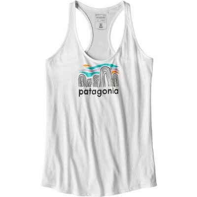 Patagonia W's Fitz Roy Boulders Organic Tank White M