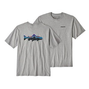 Patagonia M's Fitz Roy Trout Responsibili-Tee Drifter Grey M