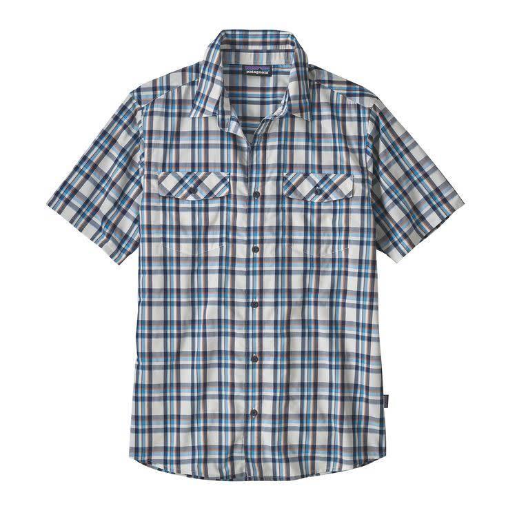 Patagonia M's High Moss Shirt Anchor: Birch White L