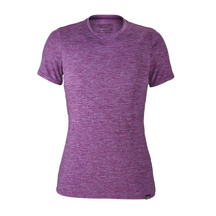 Patagonia W's Cap Daily T-Shirt Light Acai - Ikat Purple X-Dye S