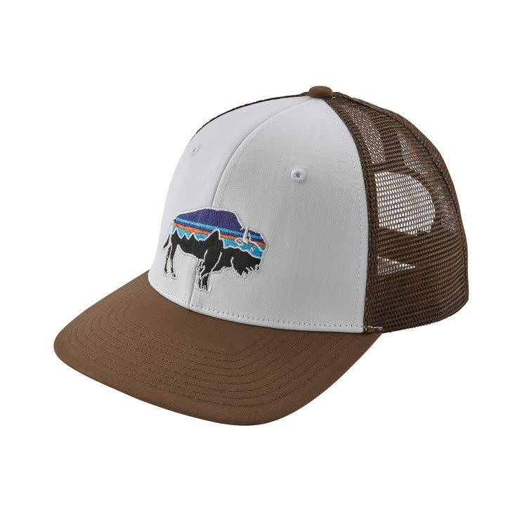 Patagonia Fitz Roy Bison Trucker Hat White w/Timber Brown ALL
