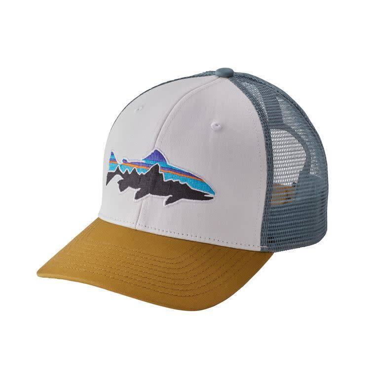 Patagonia Fitz Roy Trout Trucker Hat White ALL
