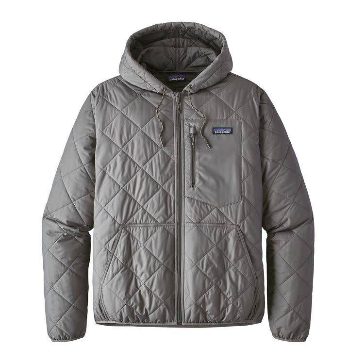 Patagonia Ms Diamond Quilted Bomber Hoody Hex Grey M