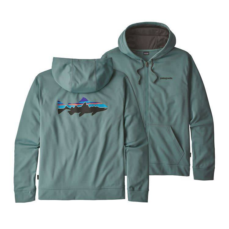 Patagonia Ms Fitz Roy Trout PolyCycle FullZip Hoody Shadow Blue XL
