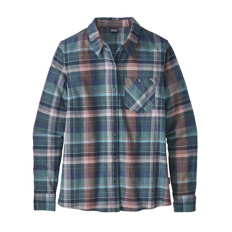 Patagonia Ws Heywood Flannel Shirt Plume: Shadow Blue 10