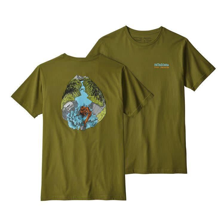 Patagonia Ms River Liberation Organic TShirt Willow Herb Green XL