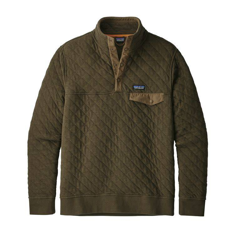 Patagonia Ms Organic Cotton Quilt SnapT P/O Sediment L