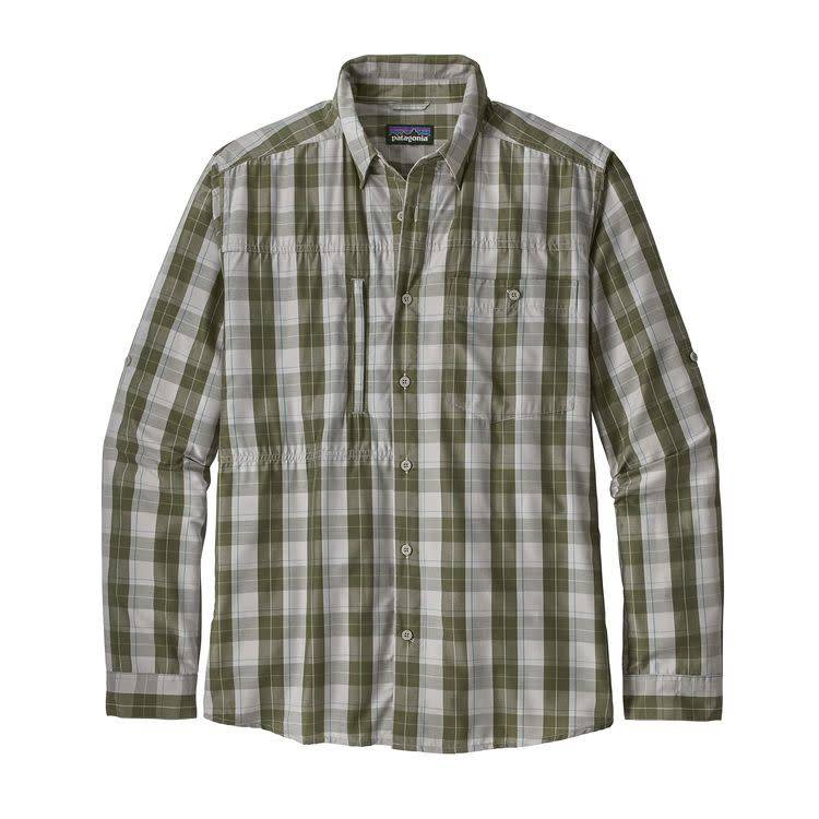 Patagonia Ms L/S Gallegos Shirt Boxwood: Drifter Grey L