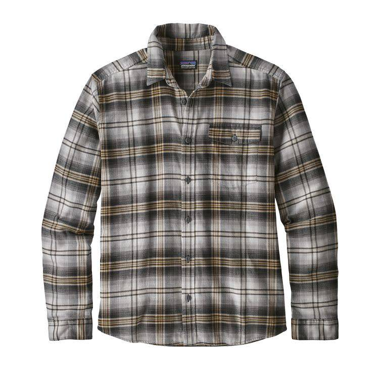 Patagonia Ms LW Fjord Flannel Shirt Bad Ombre: Black M