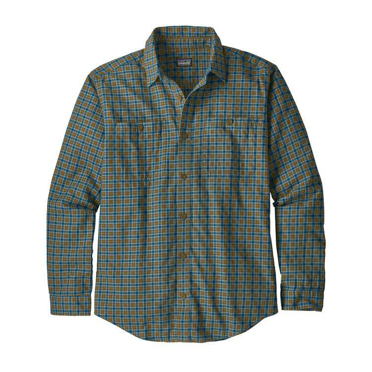 Patagonia Ms L/S Pima Cotton Shirt Sticks: Lumi Blue M