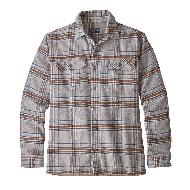 Patagonia Ms L/S Fjord Flannel Shirt Activist: Feather Grey XL