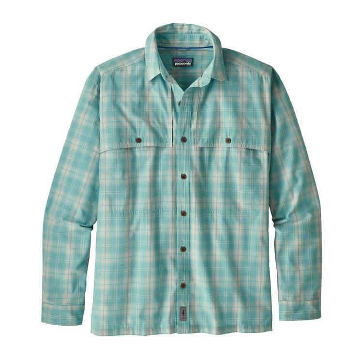 Patagonia Ms L/S Island Hopper II Shirt Herder: Dam Blue XL