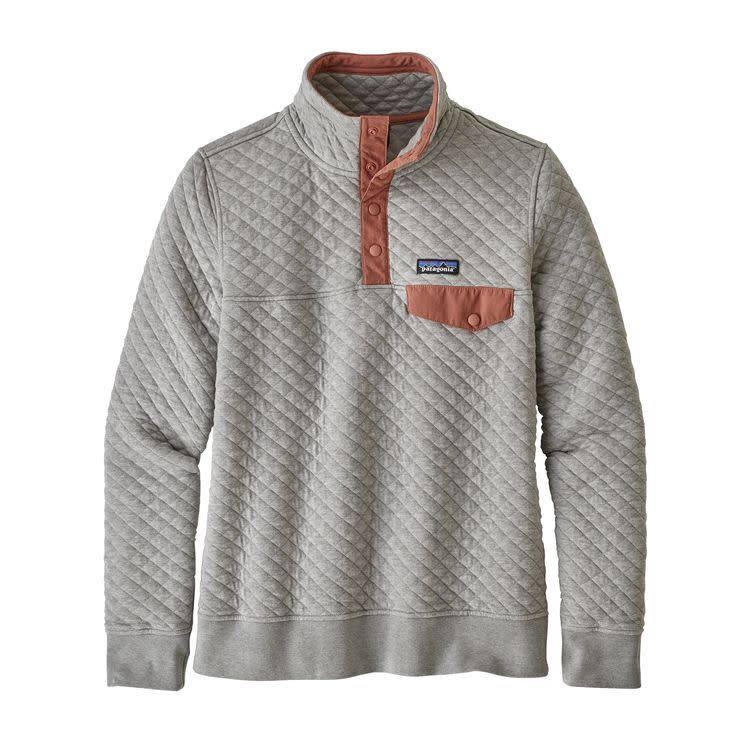 Patagonia Ws Organic Cotton Quilt SnapT P/O Drifter Grey L