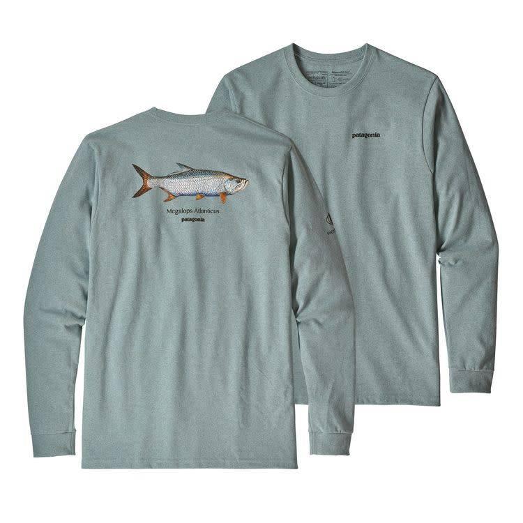 Patagonia Patagonia Men's L/S Tarpon World Trout Responsibili-Tee Cadet Blue XL