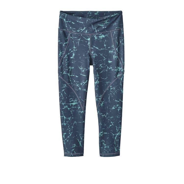 Patagonia W's Centered Crops Crackle: Dolomite Blue L