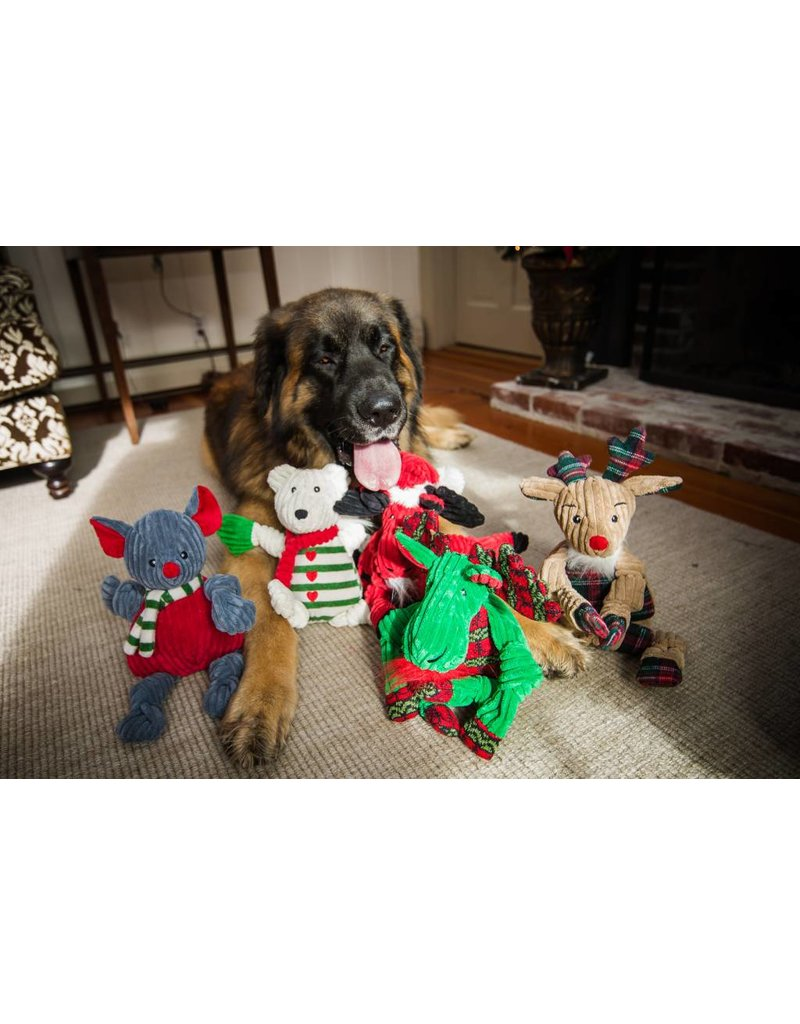 HuggleHounds HuggleHounds Christmas Green Corduroy Knottie Christmas Moose 2017