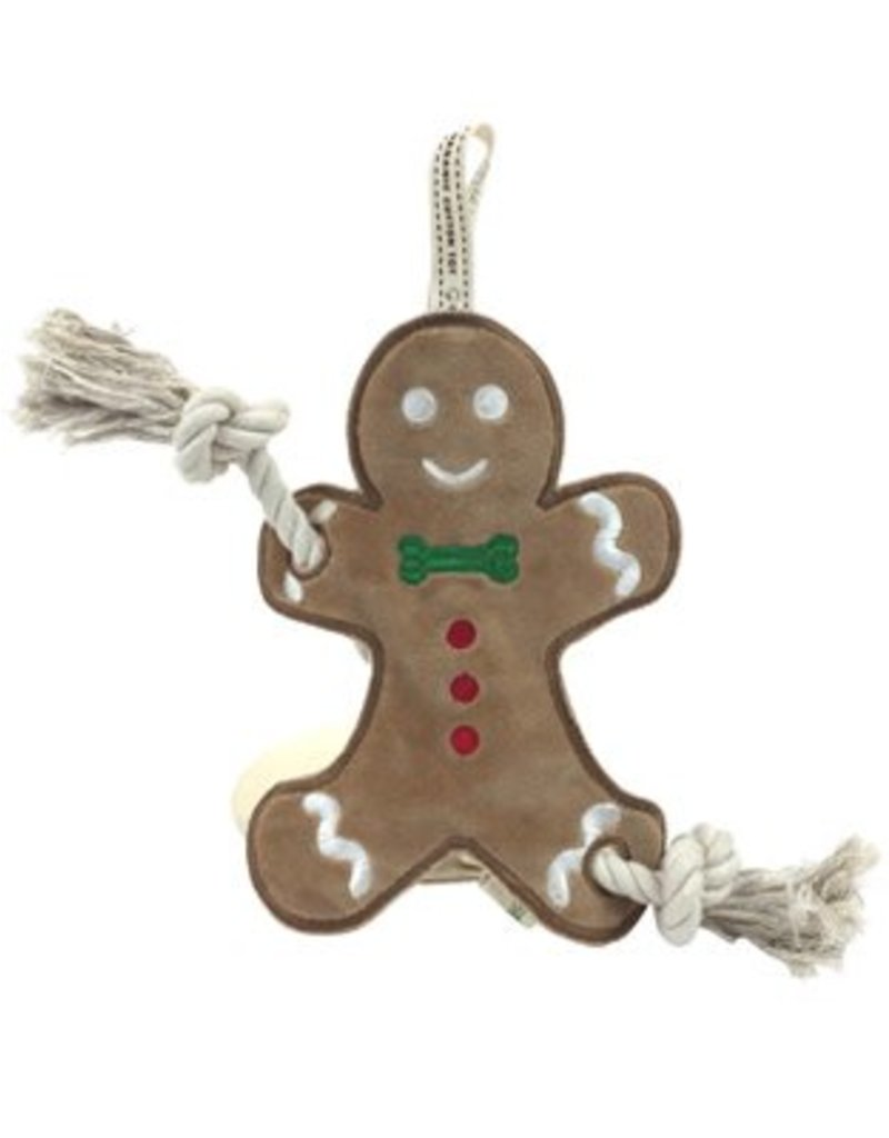 Simply Fido Holiday Christmas Gingerbread Man Stuffless Rope