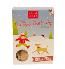 Cloud Star Cloud Star Dog HOLIDAY Treats Oven Baked Holiday Pumpkin Treats 14 oz