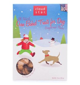 Cloud Star Cloud Star Dog HOLIDAY Treats Oven Baked Holiday Gingerbread Treats 14 oz