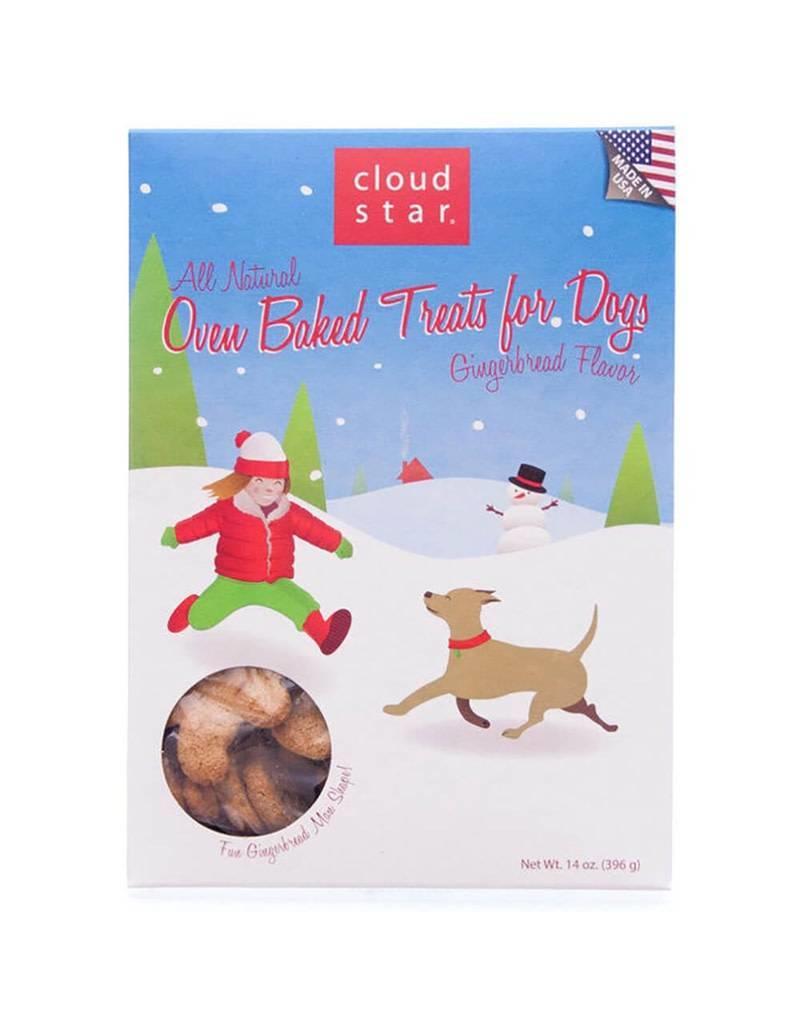 Cloud Star Cloud Star Dog HOLIDAY Treats Oven Baked Holiday Gingerbread Treats 14 oz
