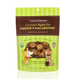Coco Therapy Dog Treats 4 oz Macaroons Coconut Apple Pie