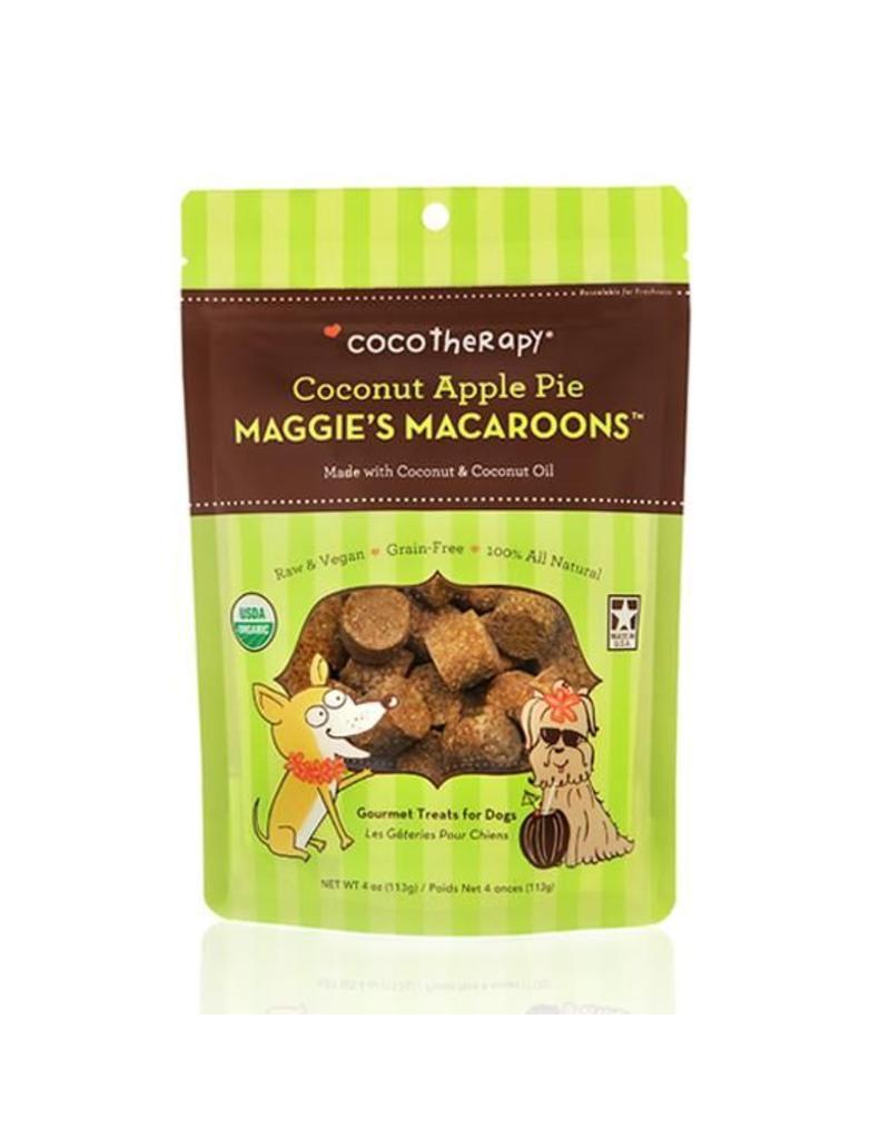 Coco Therapy Dog Treats 4 oz Macaroons Coconut Apple Pie