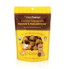 Coco Therapy Dog Treats 4 oz Macaroons Coconut Lemoncello