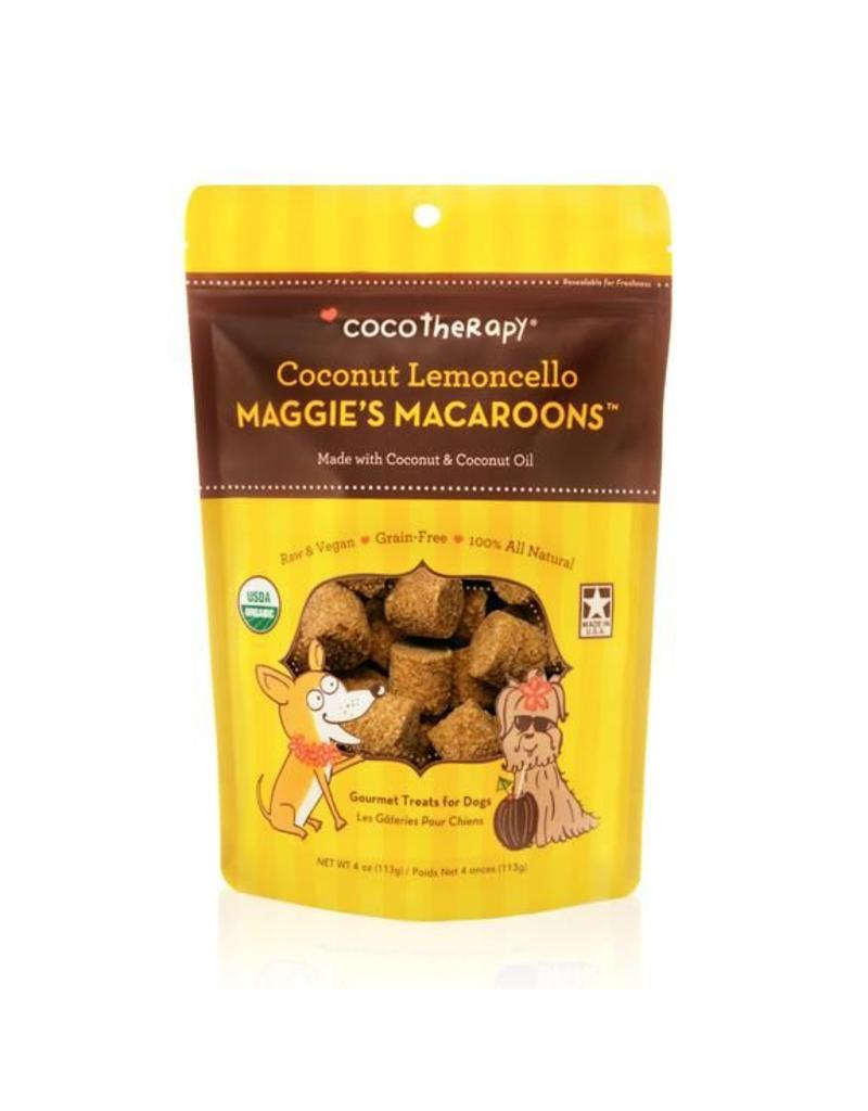 CoCo Therapy Coco Therapy Dog Treats 4 oz Macaroons Coconut Lemoncello