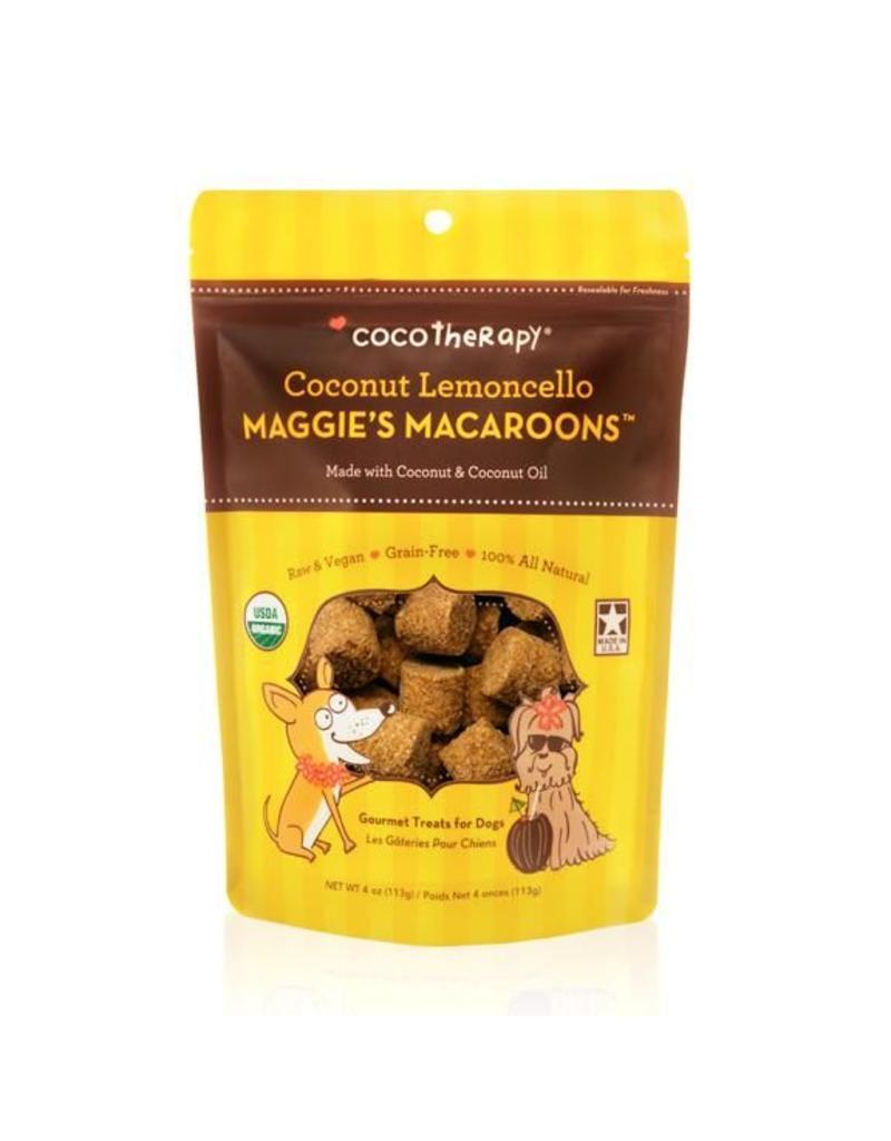Coco Therapy Dog Treats 4 oz Macaroons Coconut Lemoncello