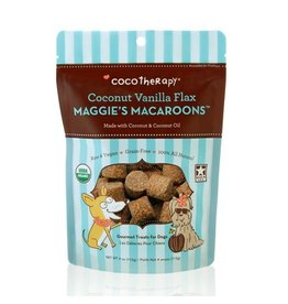 Coco Therapy Dog Treats 4 oz Macaroons Coconut Vanilla Flax