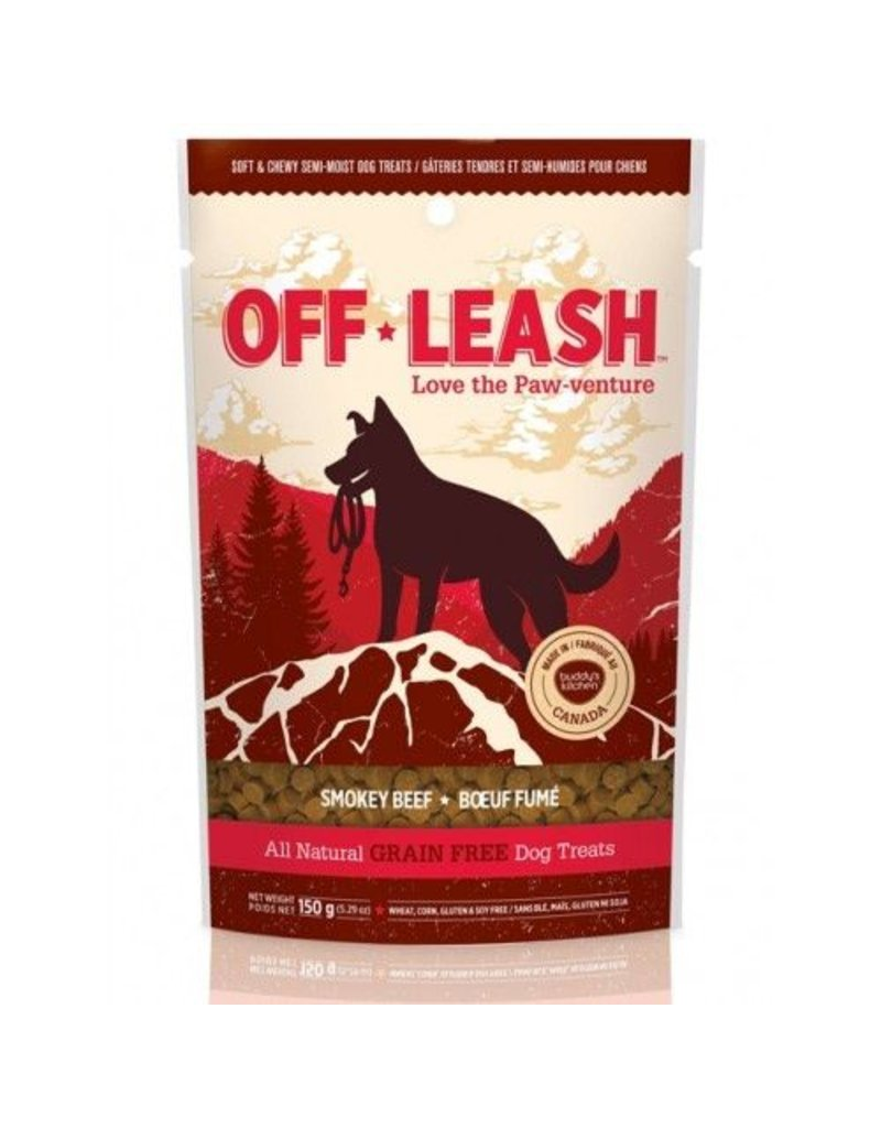 Complete Natural Nutrition OFF LEASH 5.29 oz Grain Free Treats Smokey Beef Recipe