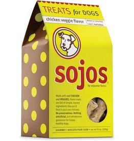Sojos Crunchy Dog Treats 10 oz Chicken & Veggies