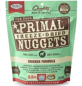 Primal Primal Freeze Dried Dog Nuggets 5.5 oz  Chicken