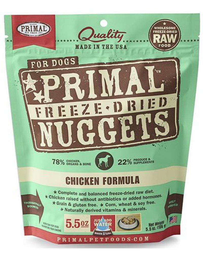 Primal Primal Freeze Dried Dog Nuggets 5.5 oz  Chicken