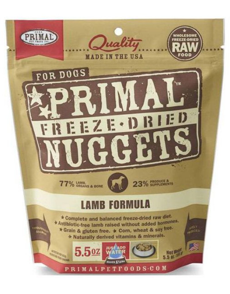 Primal Primal Freeze Dried Dog Nuggets 5.5 oz  Lamb