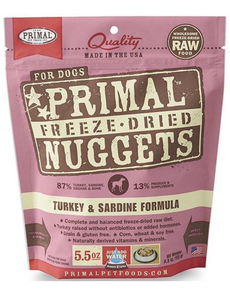 Primal Primal Freeze Dried Dog Nuggets 5.5 oz  Turkey & Sardine