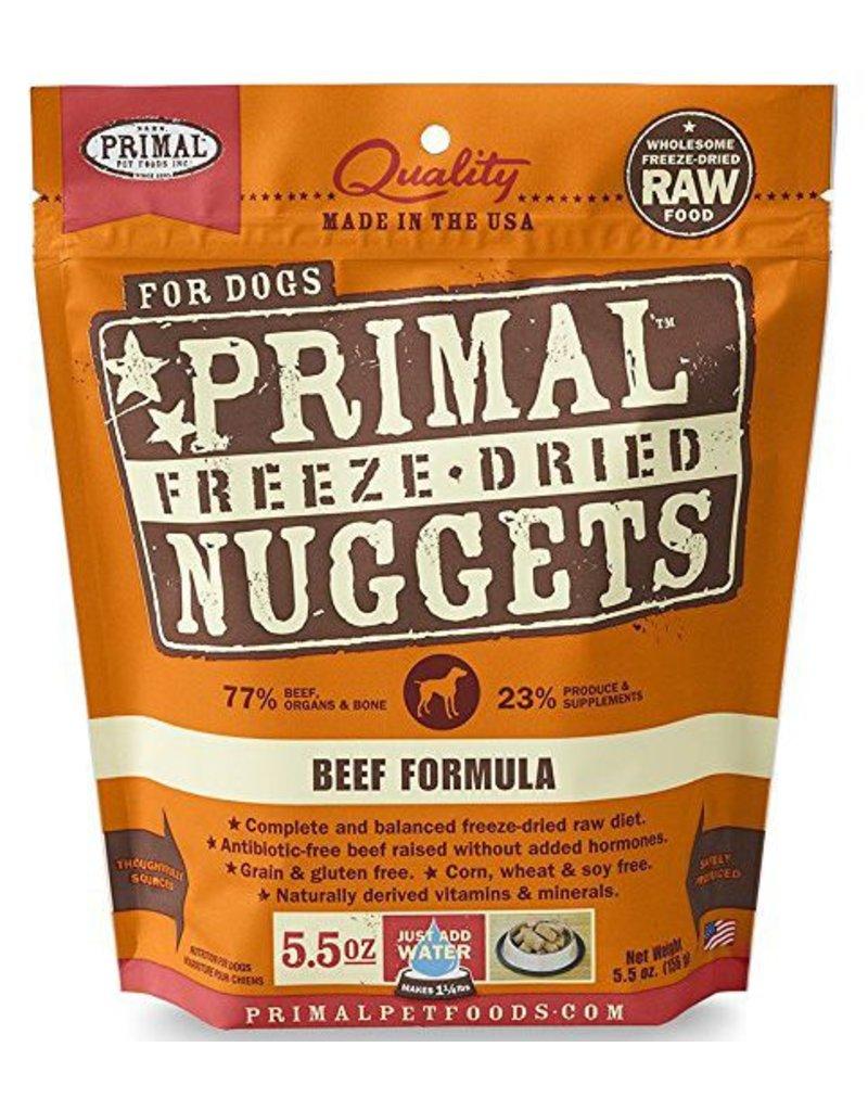 Primal Primal Freeze Dried Dog Nuggets 5.5 oz  Beef
