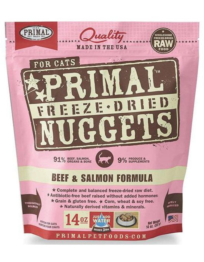 Primal Primal Freeze-Dried Cat Nuggets 14 oz Beef & Salmon