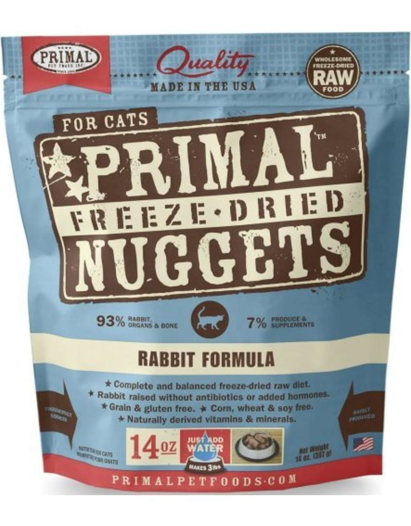 Primal Primal Freeze-Dried Cat Nuggets 14 oz Rabbit