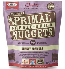 Primal Primal Freeze-Dried Cat Nuggets 14 oz Turkey