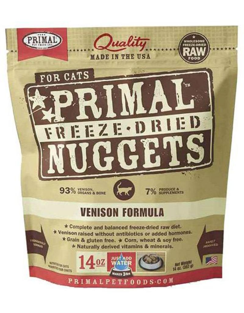 Primal Primal Freeze-Dried Cat Nuggets 14 oz Venison