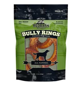 Red Barn Dog Bully Sticks  Bully Rings 3 PK