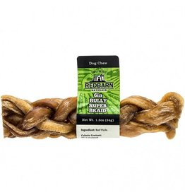 "Red Barn Dog Bully Sticks  6"" Bully Super Braid"